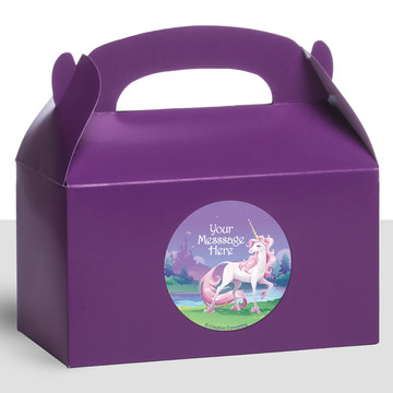Unicorn Personalized Treat Favor Boxes (12 Count)