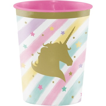 Unicorn Sparkle 16oz Plastic Favor Cup (1)
