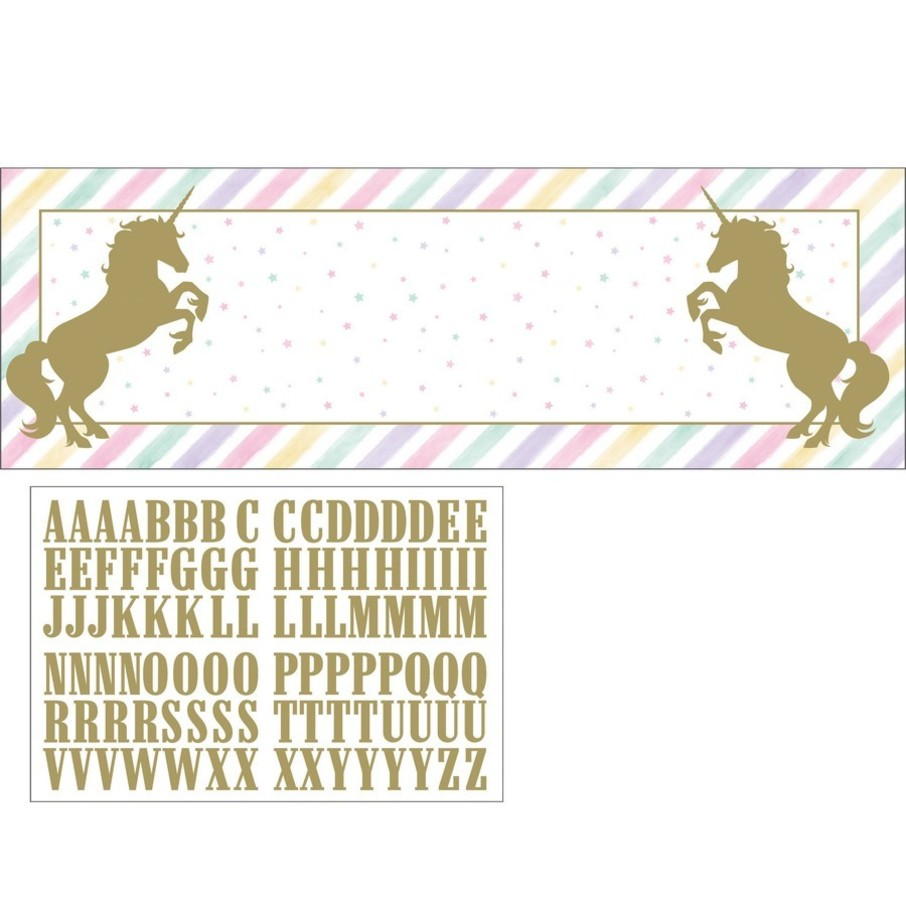 "View larger image of Unicorn Sparkle 20"" x 60"" Banner"