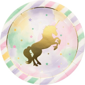 "Unicorn Sparkle 9"" Lunch Plate (8)"