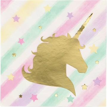 Unicorn Sparkle Beverage Napkin (16)