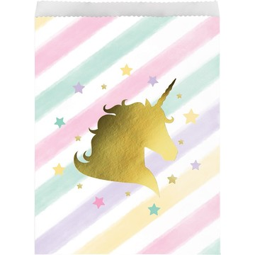 Unicorn Sparkle Paper Treat Bag (10)