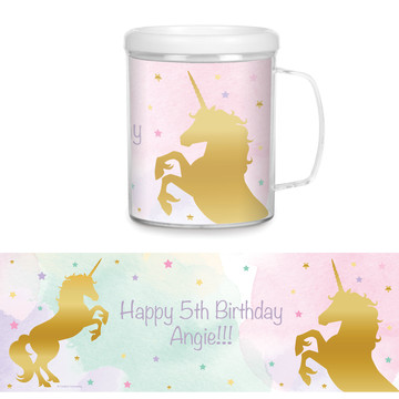 Unicorn Sparkle Personalized Favor Mug (Each)