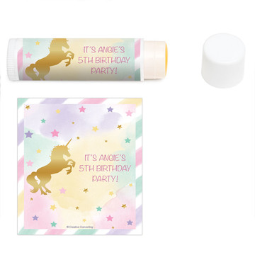 Unicorn Sparkle Personalized Lip Balm (12 Pack)