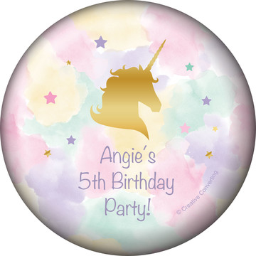 Unicorn Sparkle Personalized Magnet (Each)
