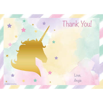 Unicorn Sparkle Personalized Thank You (Each)