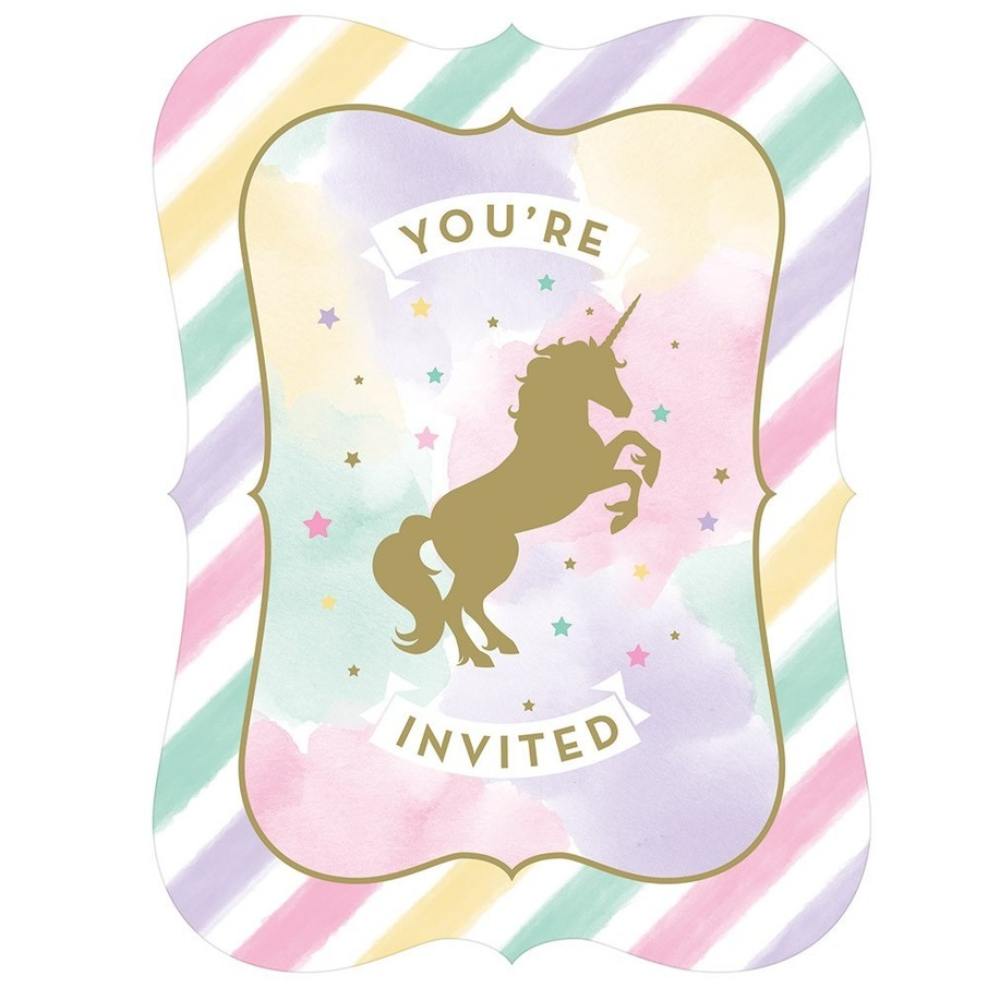 View larger image of Unicorn Sparkle Postcard Invitation, 8ct