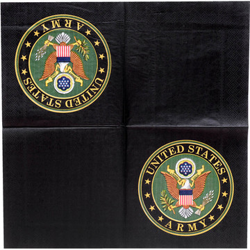 US Army Luncheon Napkin with Crest (16)