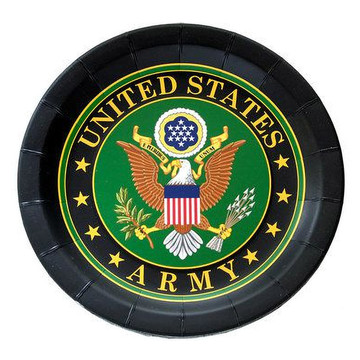 """US Army Plate with Crest -9"""" (8)"""