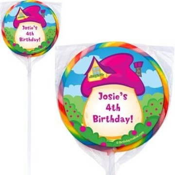 Village Friends Personalized Pink Lollipops (pack of 12)