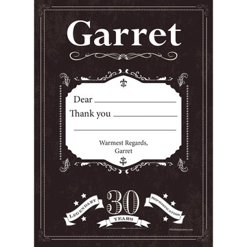 Vintage Dude 30 Personalized Thank You (Each)