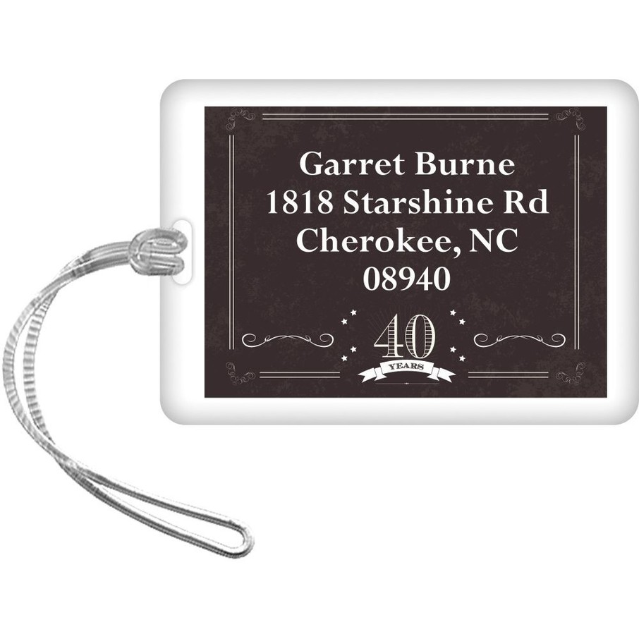 View larger image of Vintage Dude 40 Personalized Luggage Tag (Each)