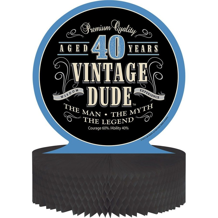 View larger image of Vintage Dude 40th Honeycomb Centerpiece (Each)