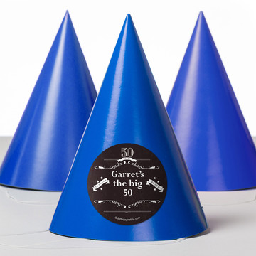 Vintage Dude 50 Personalized Party Hats (8 Count)