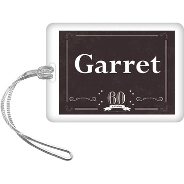 Vintage Dude 60 Personalized Bag Tag (Each)