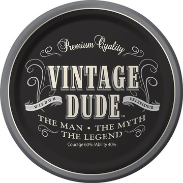 "Vintage Dude 7"" Cake Plates (8 Pack)"