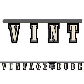 Vintage Dude Jointed Banner (Each)