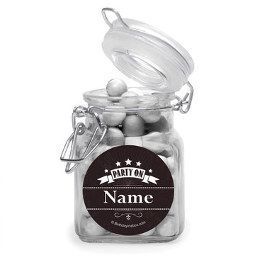 Vintage Dude Personalized Glass Apothecary Jars (12 Count)