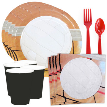 Volleyball Party Standard Tableware Kit (Serves 8)