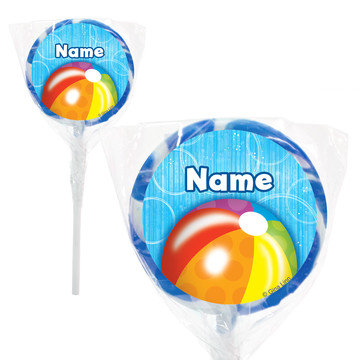 "Water Fun Personalized 2"" Lollipops (20 Pack)"