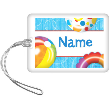 Water Fun Personalized Bag Tag (Each)