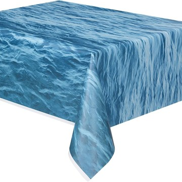 Water Print Plastic Table Cover (Each)