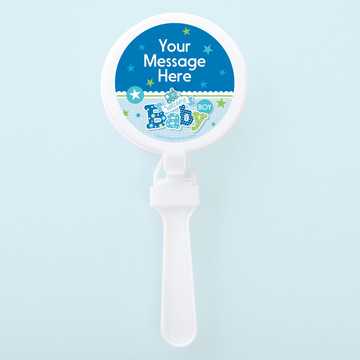 Welcome Baby Boy Personalized Clappers (Set of 12)