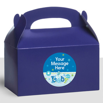 Welcome Baby Boy Personalized Treat Favor Boxes (12 Count)