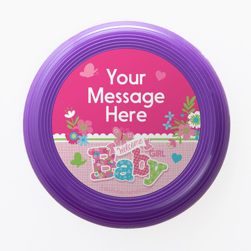 Welcome Baby Girl Personalized Mini Discs (Set of 12)