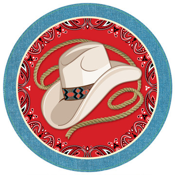 """Western 9"""" Plates (8 Pack)"""