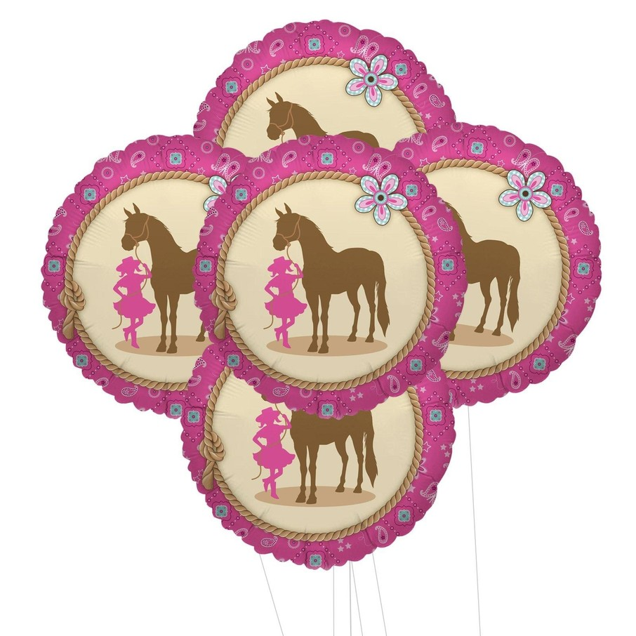 View larger image of Western Cowgirl Party 5pc Foil Balloon Kit