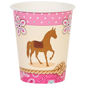 Western Cowgirl Party 9oz Paper Cups (8)