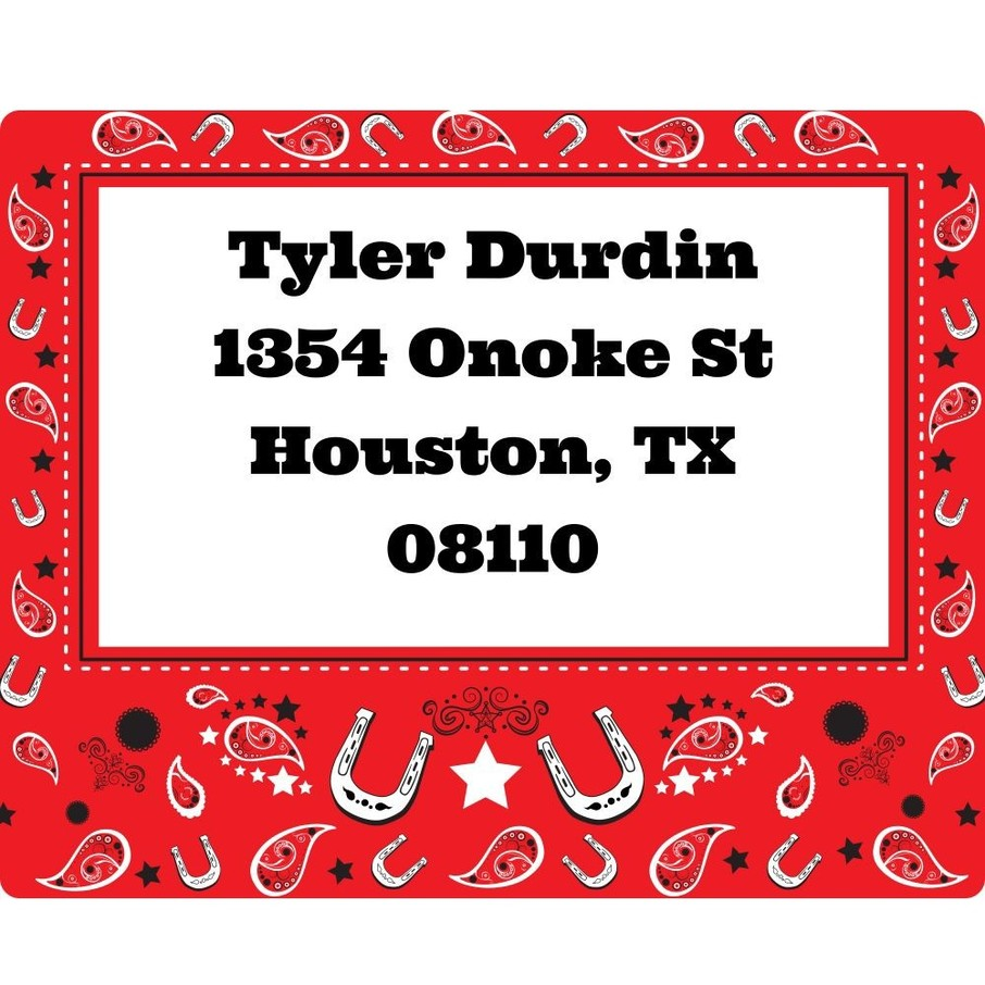 View larger image of Western Personalized Address Labels (Sheet of 15)