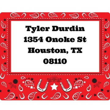 Western Personalized Address Labels (Sheet of 15)