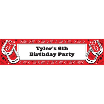 Western Personalized Banner (Each)