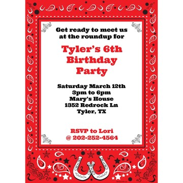 Western Personalized Invitation (Each)