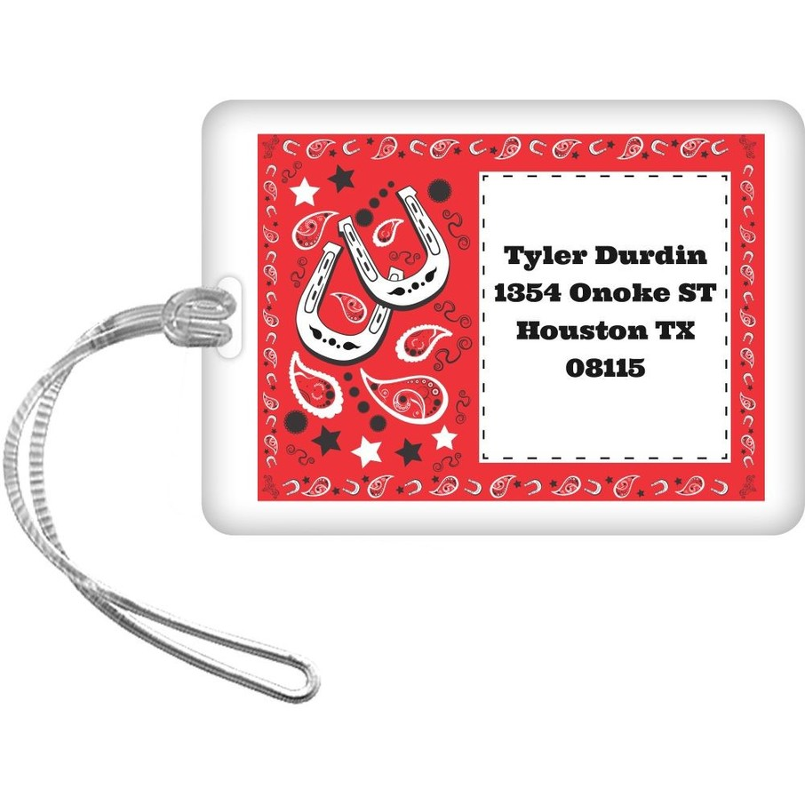 View larger image of Western Personalized Luggage Tag (Each)