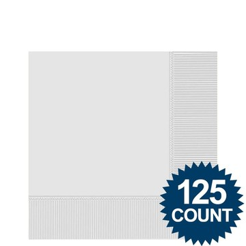 White Beverage Napkins, 125 ct.