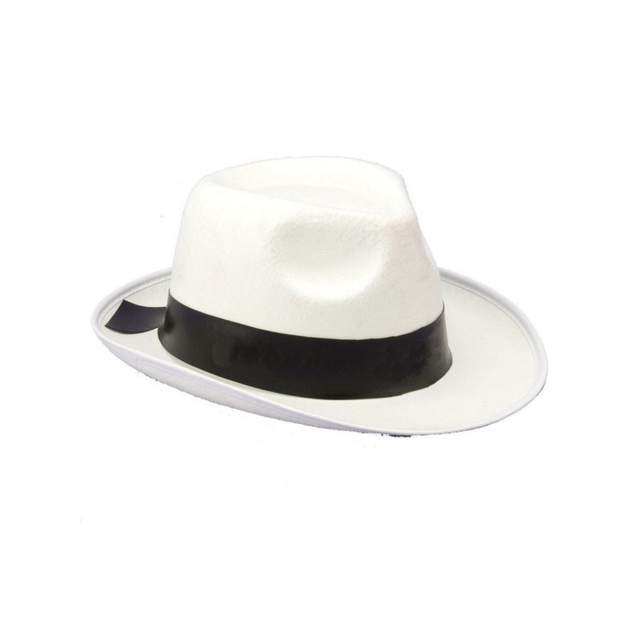 View larger image of White Gangster Hat