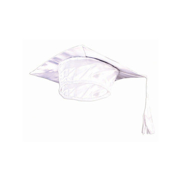 White Graduation Adult Cap - One-Size