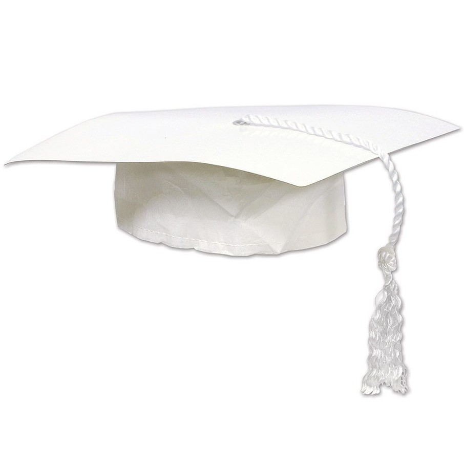 View larger image of White Graduation Cap (Each)