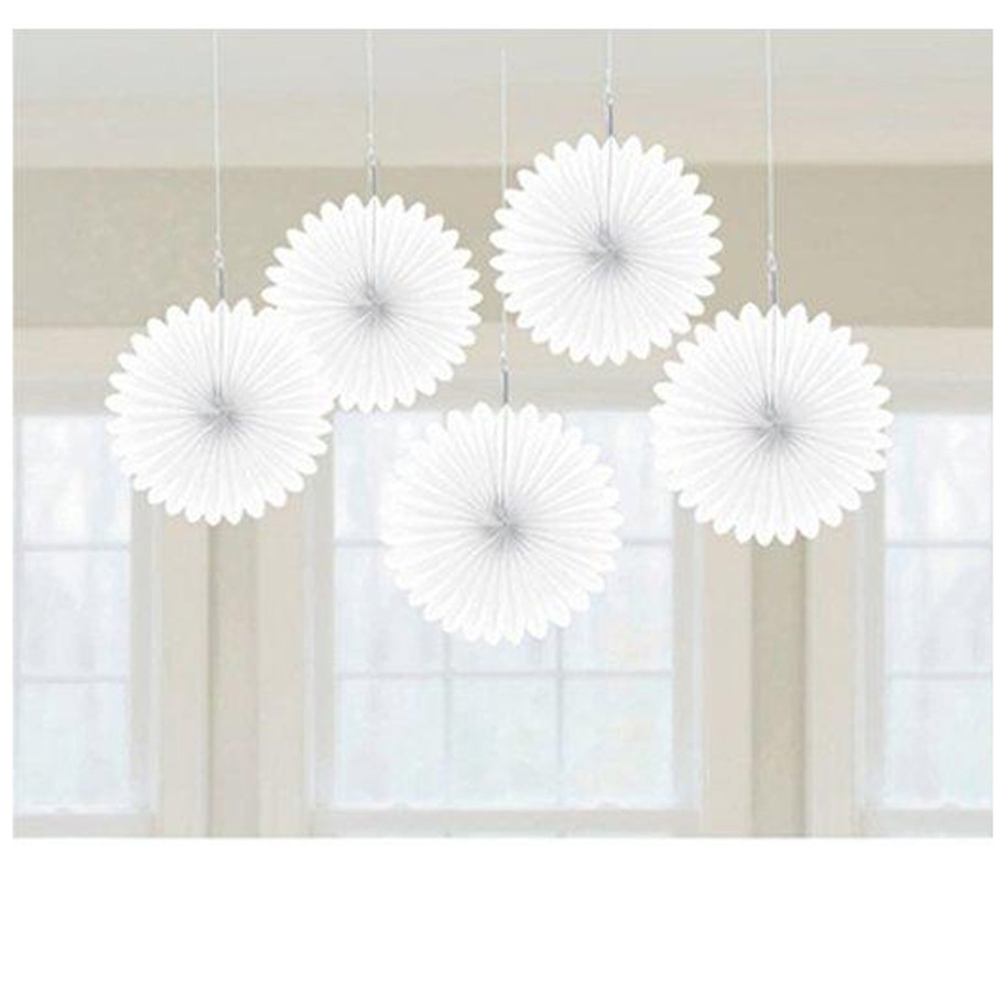 View larger image of White Mini Hanging Fan Decorations