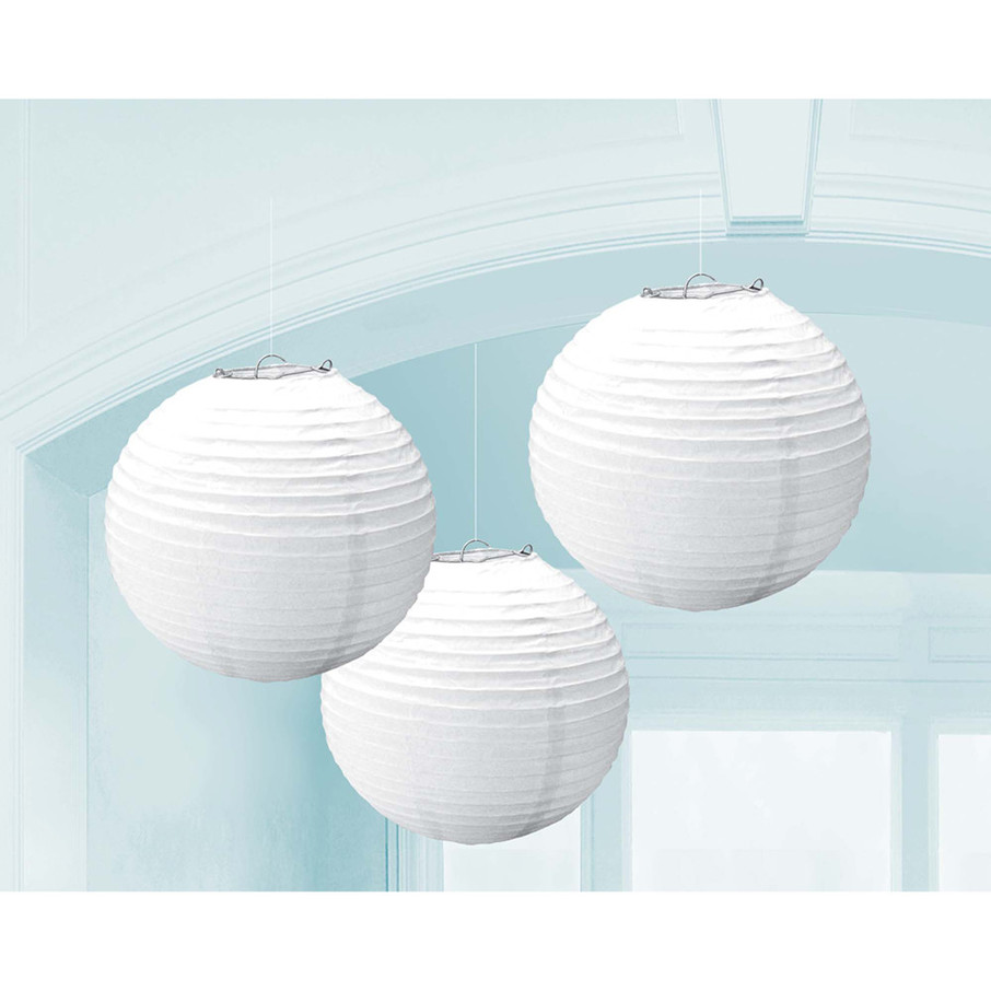 View larger image of White Paper Lantern Decorations (3 Count)