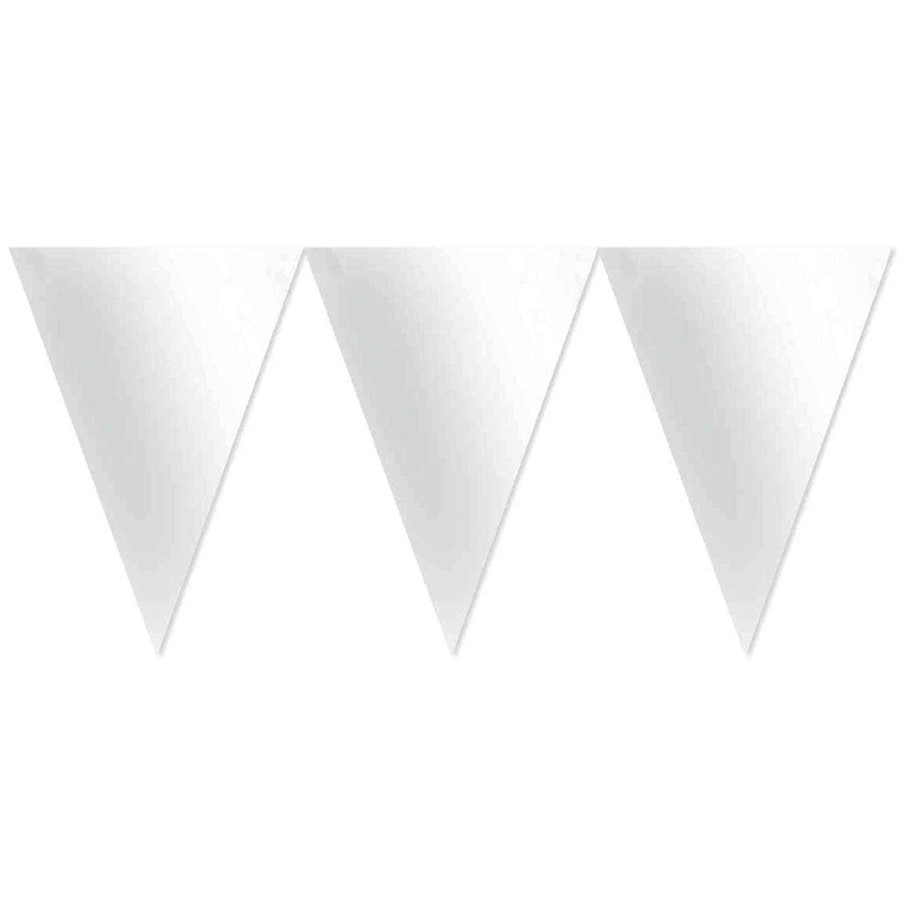 View larger image of White Paper Pennant Banner