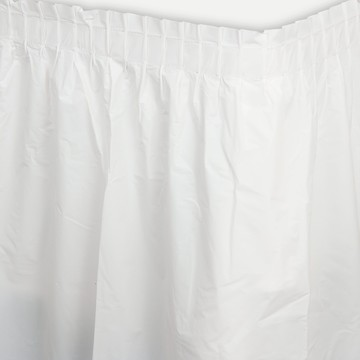 White Plastic Table Skirt