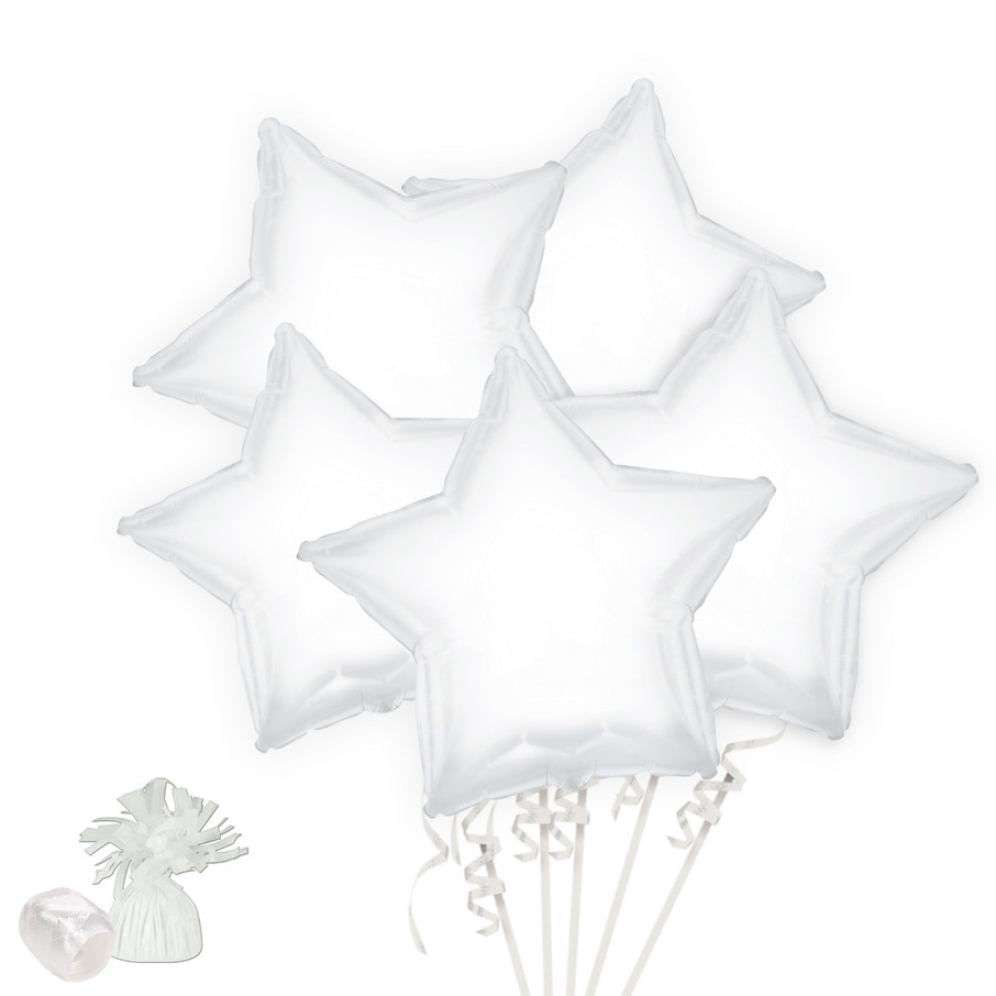 View larger image of White Star Balloon Bouquet Kit