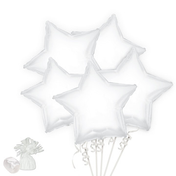 White Star Balloon Bouquet Kit
