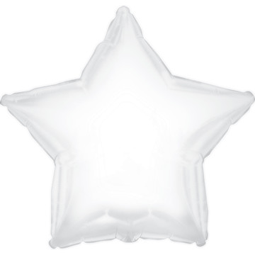 White Star Foil Balloon