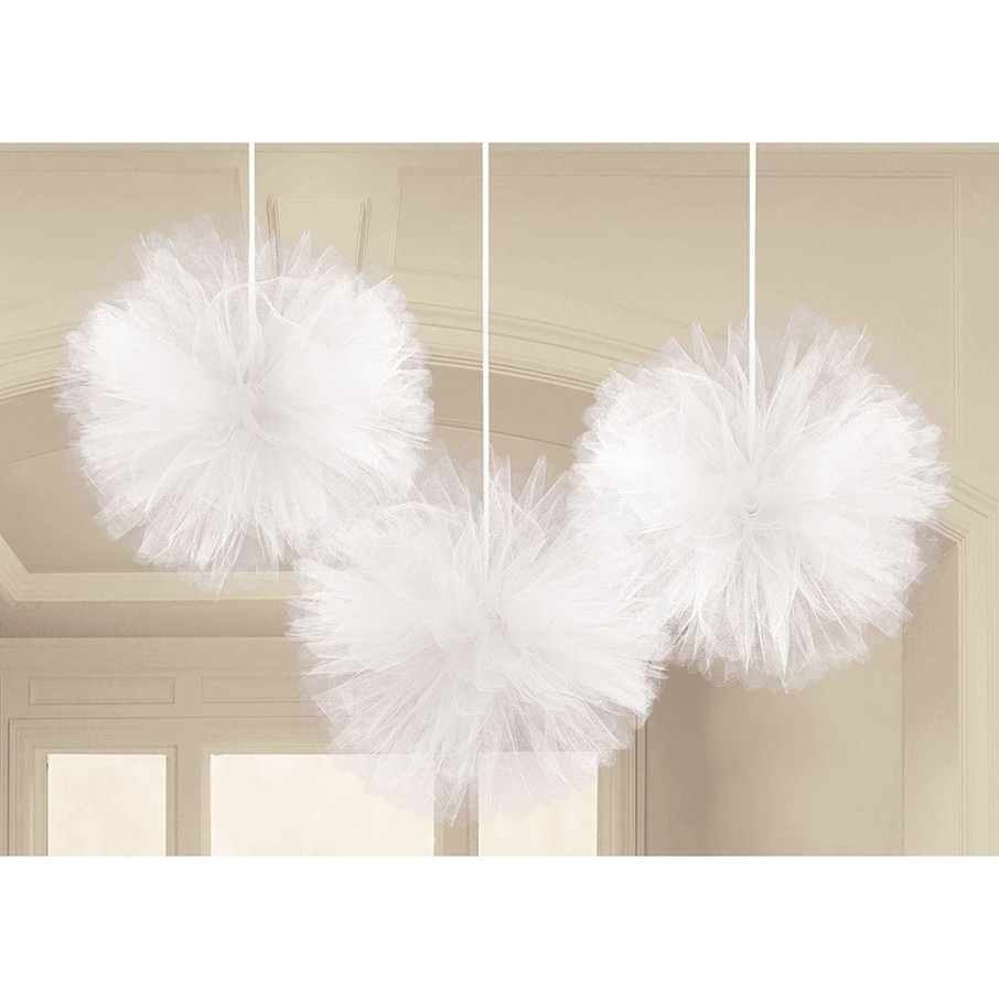 View larger image of White Tulle Fluffy Balls (3)
