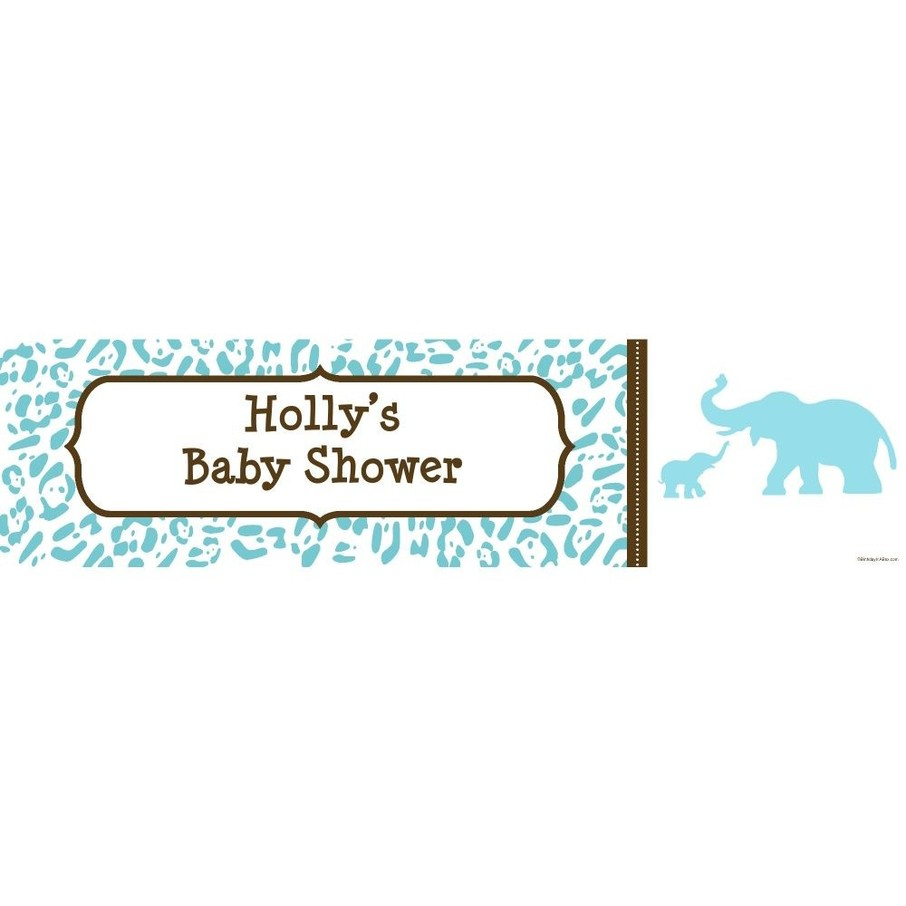 View larger image of Wild Safari Blue Personalized Banner (Each)